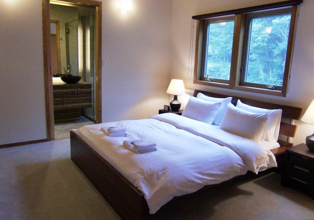Creekside Master Bedroom Niseko Realty
