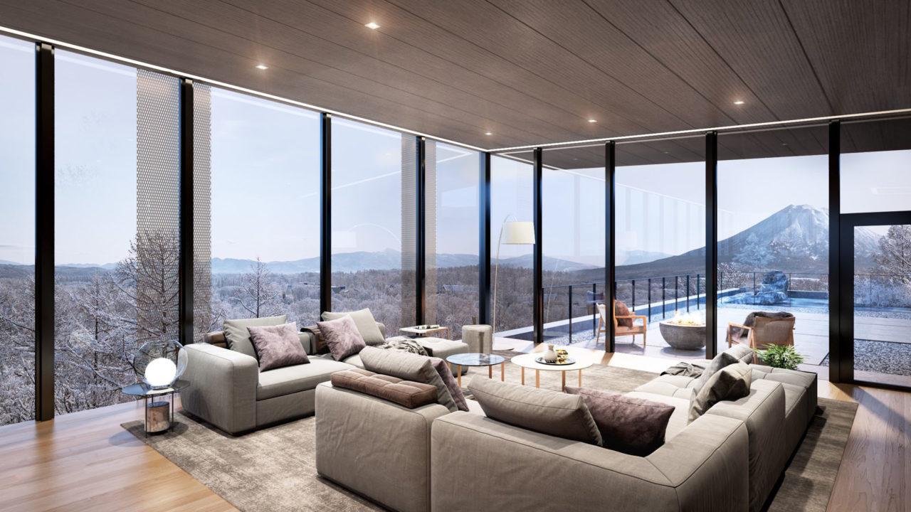 Penthouse A lounge area