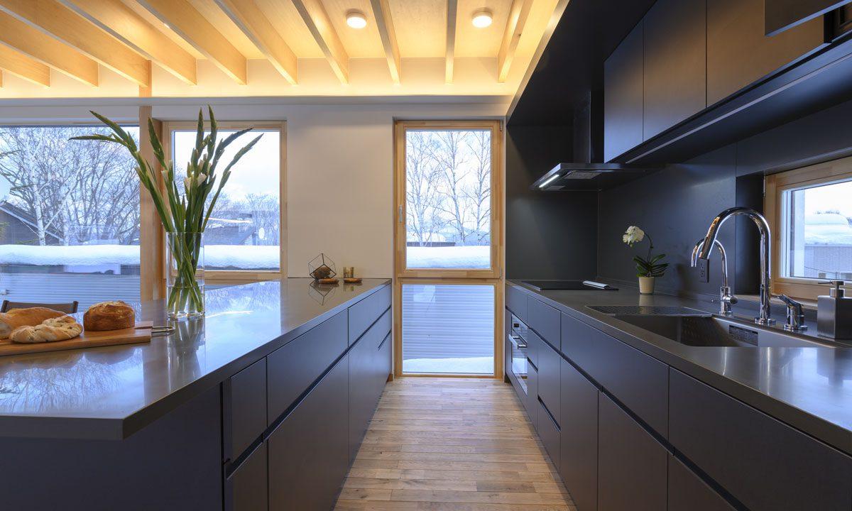 Hachiko Villa kitchen